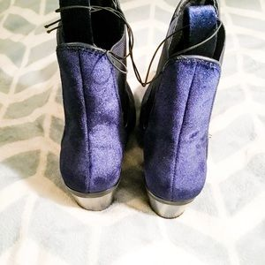 abe74e6407a3 Mossimo Supply Co. Shoes - NWOT Blue Velvet Tommi Booties